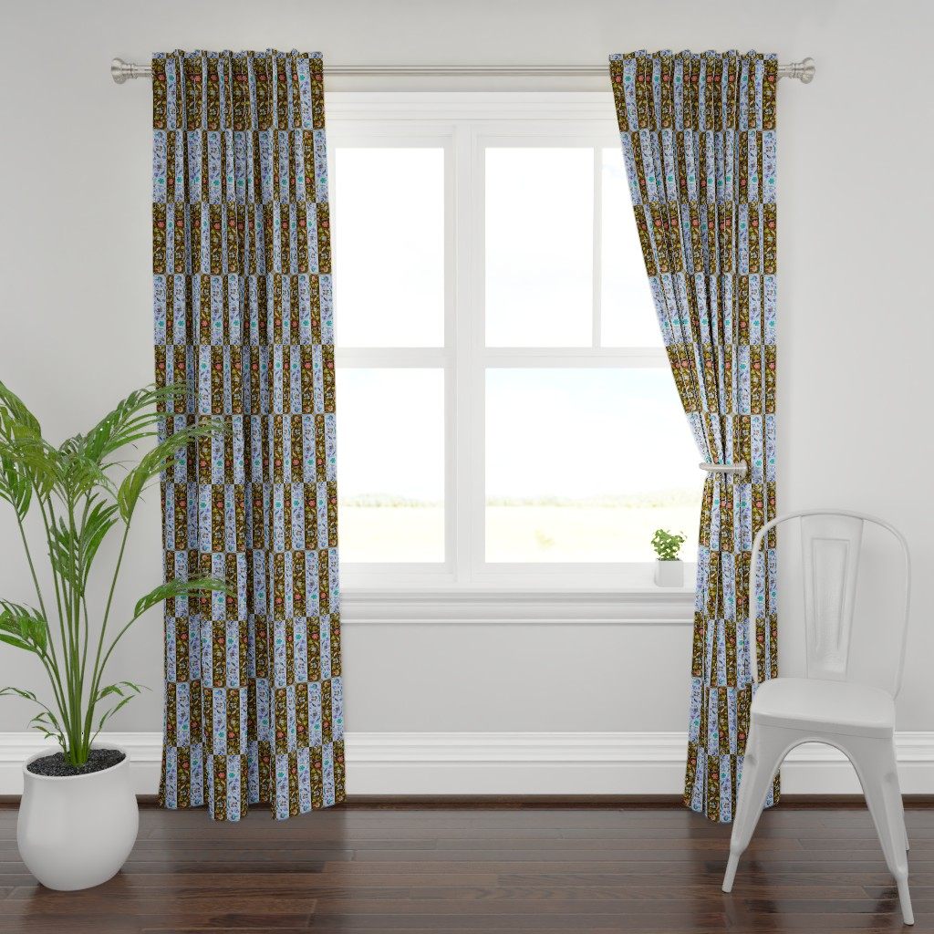Plymouth Curtain Panel featuring renaissance 103 by hypersphere
