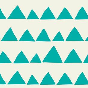 Jumbo Llama triangles turquoise