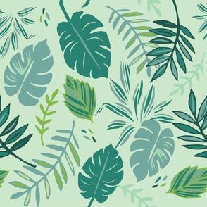 Jungle Leaves - Light Green