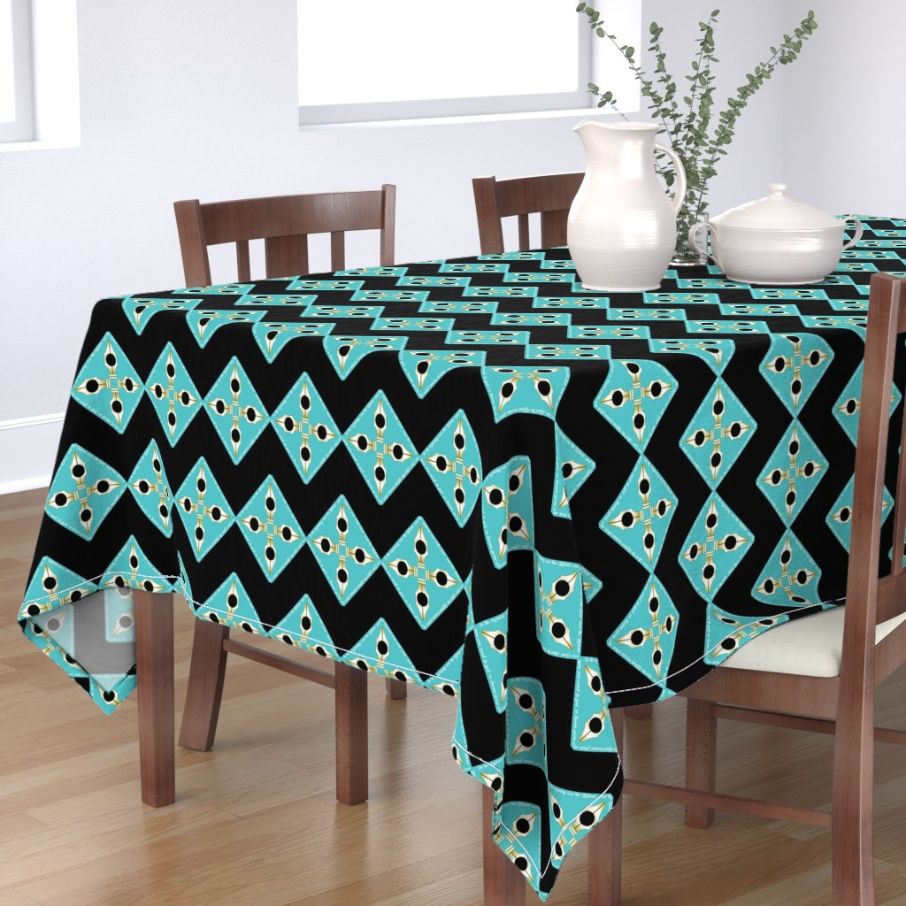 Bantam Rectangular Tablecloth featuring 40 Day Writer The Word by brandymiller