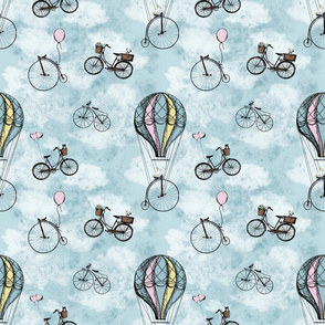 Vintage Bicycles and Balloons // large