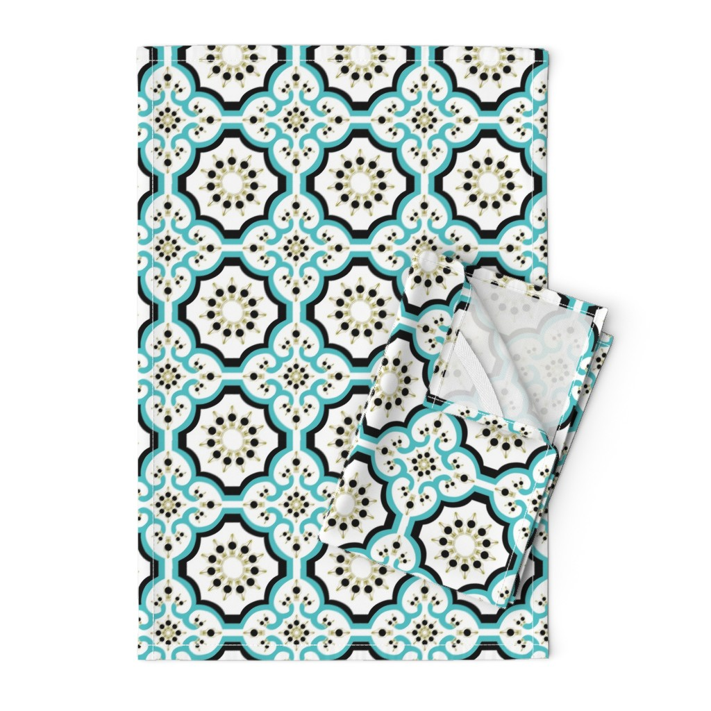 Orpington Tea Towels featuring 40 Day Writer Marrakesh by brandymiller