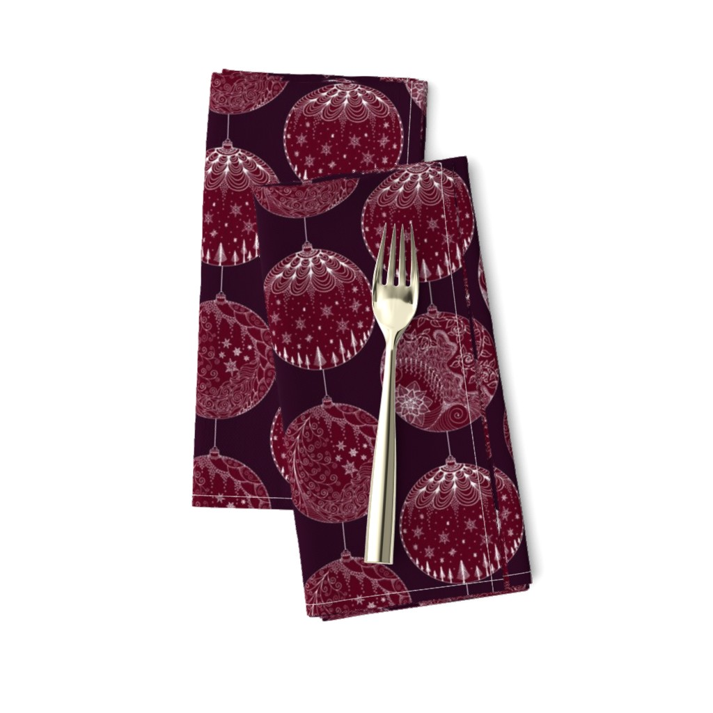 Amarela Dinner Napkins featuring Elegant Holiday Baubles by emily_laughlin