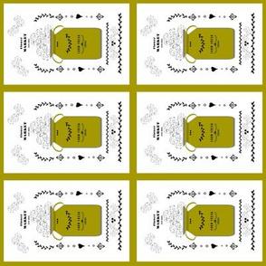 quilt squares 4 - tea towel flower market jug- rustic gold