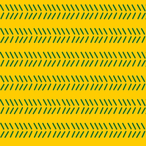 Mudcloth 3 - OFFICIAL Green & Gold