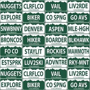 Colorado plates