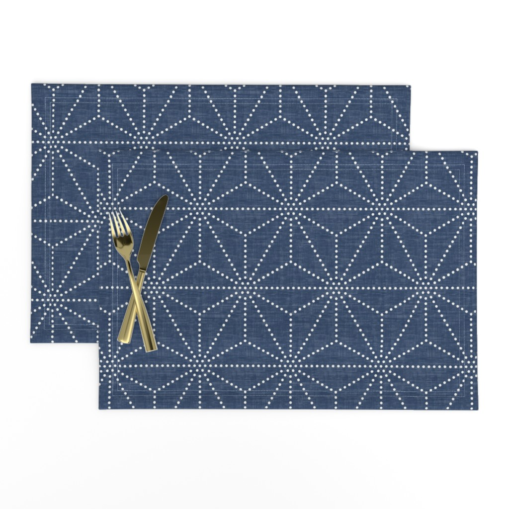 Lamona Cloth Placemats featuring Shibori Stars by kimsa