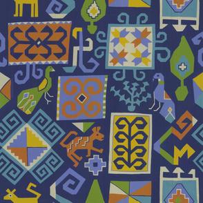 Moroccan carpet (Blue)