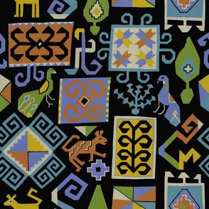 Moroccan carpet (black)