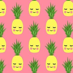 happy pineapples - pink