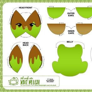 Cut & Sew Rat Plush Caramel Apple