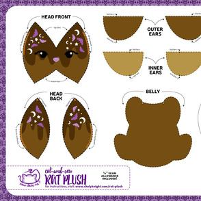 Cut & Sew Rat Plush Chocolate