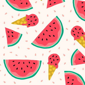Jumbo Watermelon summer ice cream party