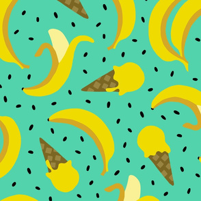 Jumbo Banana summer ice cream party mint