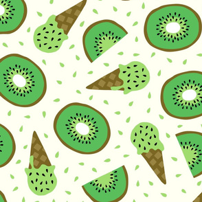 Jumbo Kiwi summer ice cream party