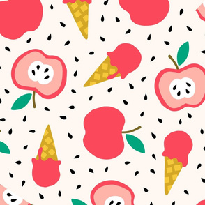 Jumbo Apple summer ice cream party pink
