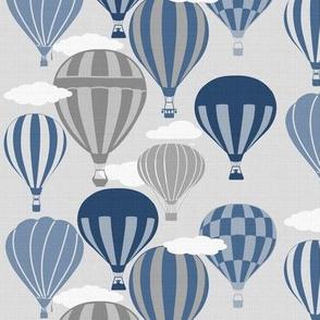 Blue Grey Hot Air Balloons