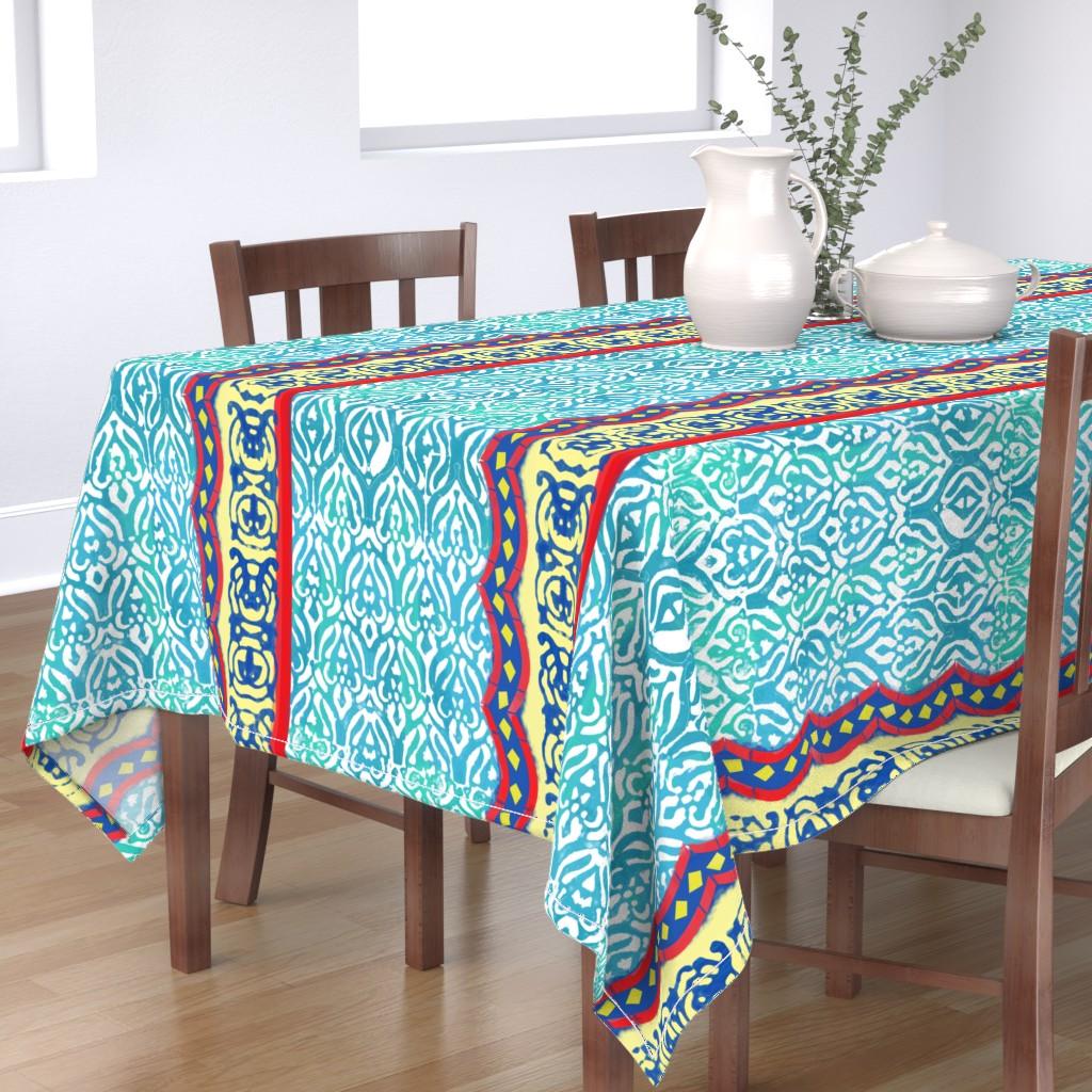 Bantam Rectangular Tablecloth featuring Distressed Marrakesh by inkysunshine