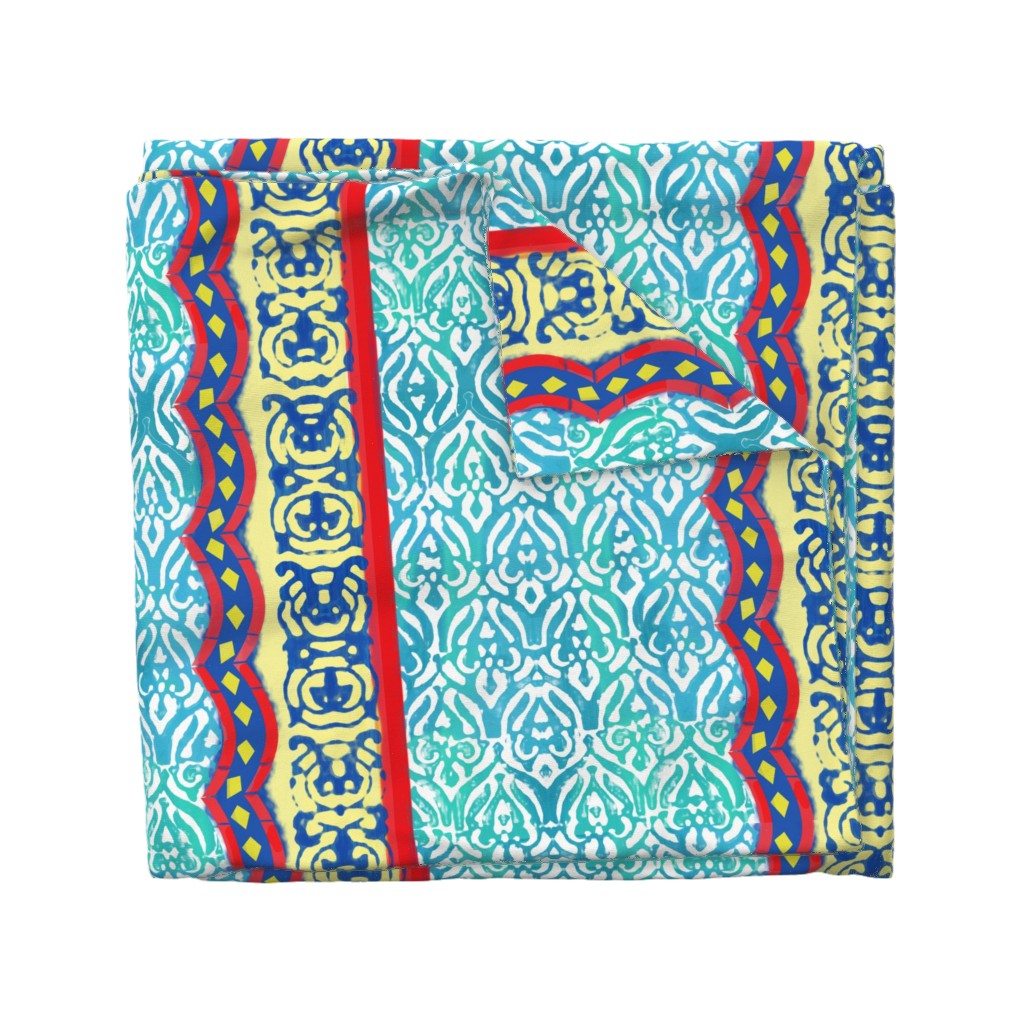 Wyandotte Duvet Cover featuring Distressed Marrakesh by inkysunshine