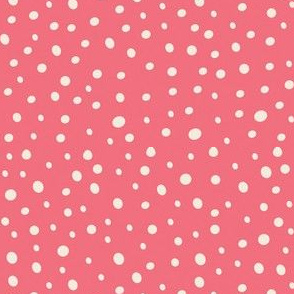 Loose white dots on pink