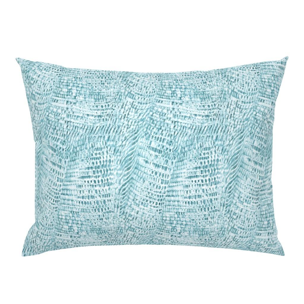 Campine Pillow Sham featuring cotton-weave-cyan by wren_leyland