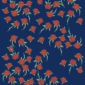 Red Retro Rose