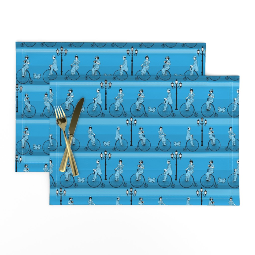 Lamona Cloth Placemats featuring cycling in style - small by michaelakobyakov