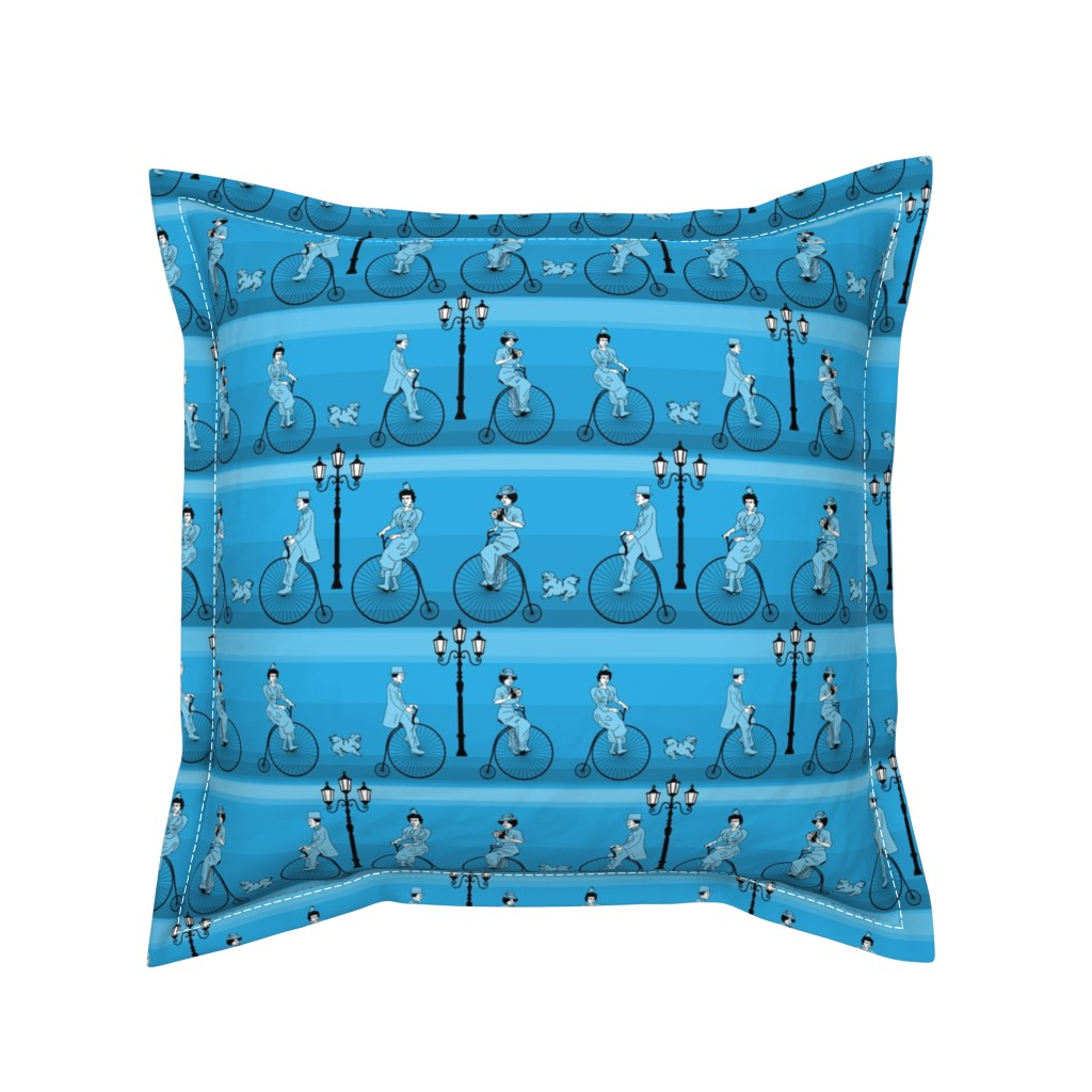 Serama Throw Pillow featuring cycling in style - small by michaelakobyakov