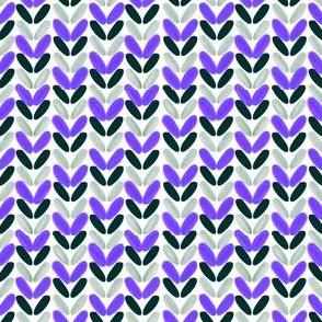 Knit Stitches - Purple, Black and Grey