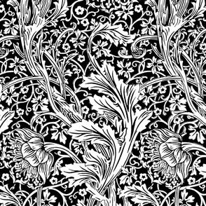 Arcadia ~  Black and White ~ William Morris