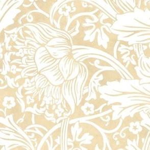 Arcadia ~ White on Parchment ~ William Morris