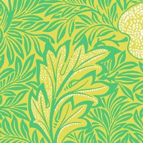 Apple ~ William Morris ~ Paris Green and White on Moxie