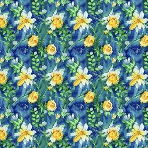 Flower of Life Paint Pattern Blue Purple