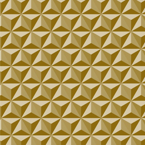 Hexadidnt_gold Spaceship earth (epcot)-01  geodesic sphere dome