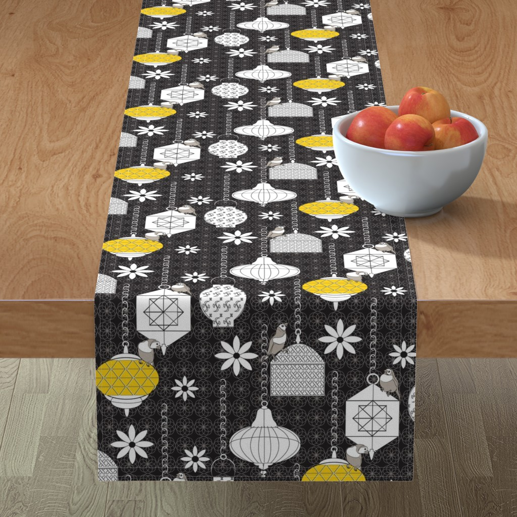 Minorca Table Runner featuring A Night in Marrakech black by colour_angel_by_kv