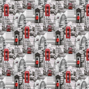 London in red and gray - small