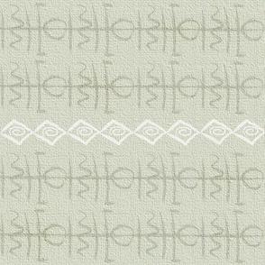 Bohemian glyph symbols tan cloth