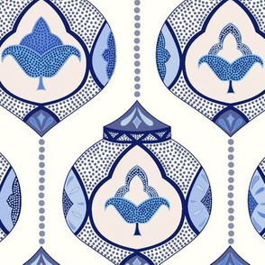 moroccan lamps - blue and white