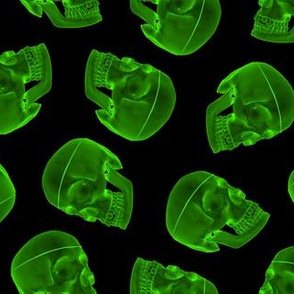 green skull - xray