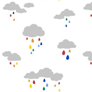 Rain Cloud Rainbow Drops