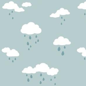 Rain Clouds Blue-Gray