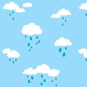Rain Clouds Sky Blue