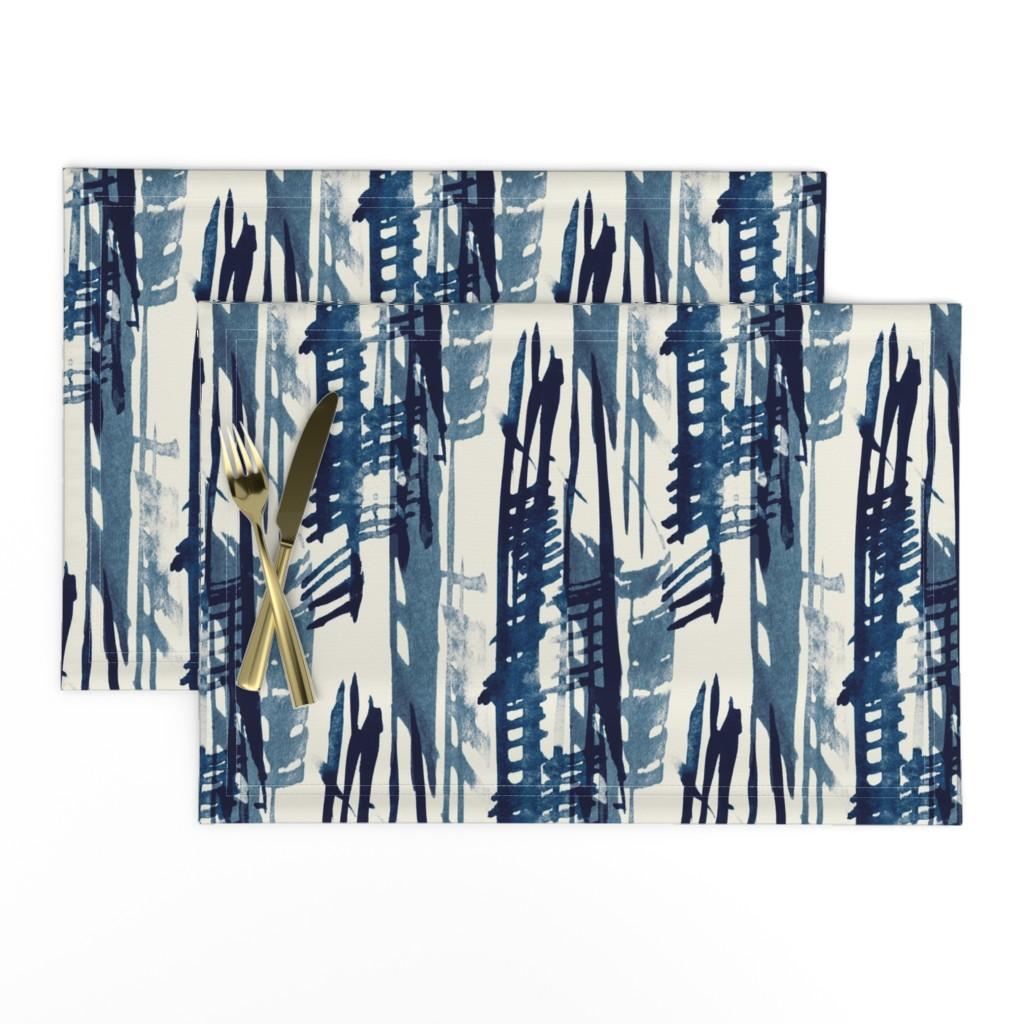 Lamona Cloth Placemats featuring Indigo Inked by elizabeth_hale_design
