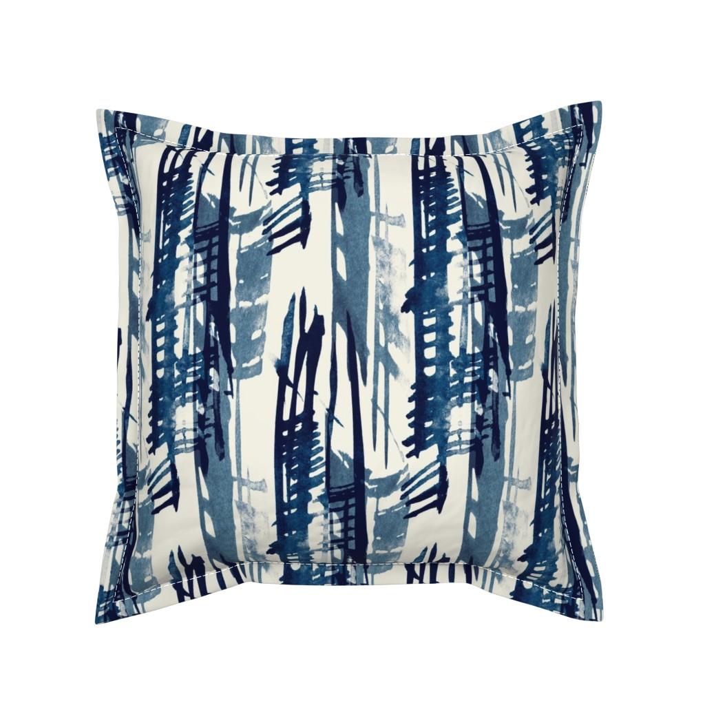 Serama Throw Pillow featuring Indigo Inked by elizabeth_hale_design