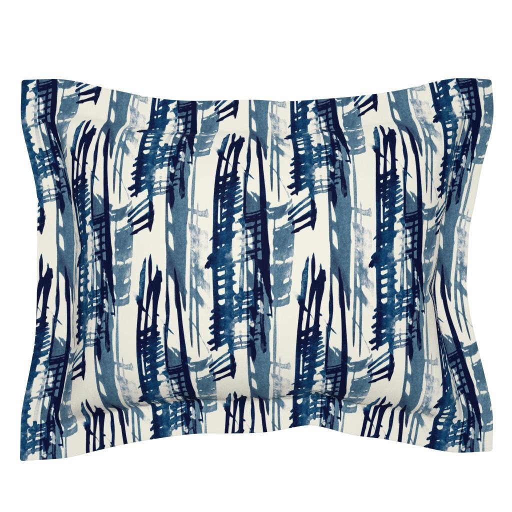 Sebright Pillow Sham featuring Indigo Inked by elizabeth_hale_design
