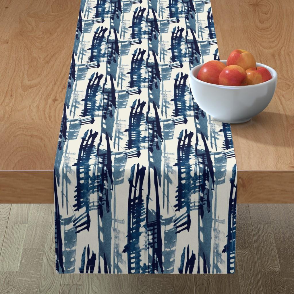 Minorca Table Runner featuring Indigo Inked by elizabeth_hale_design