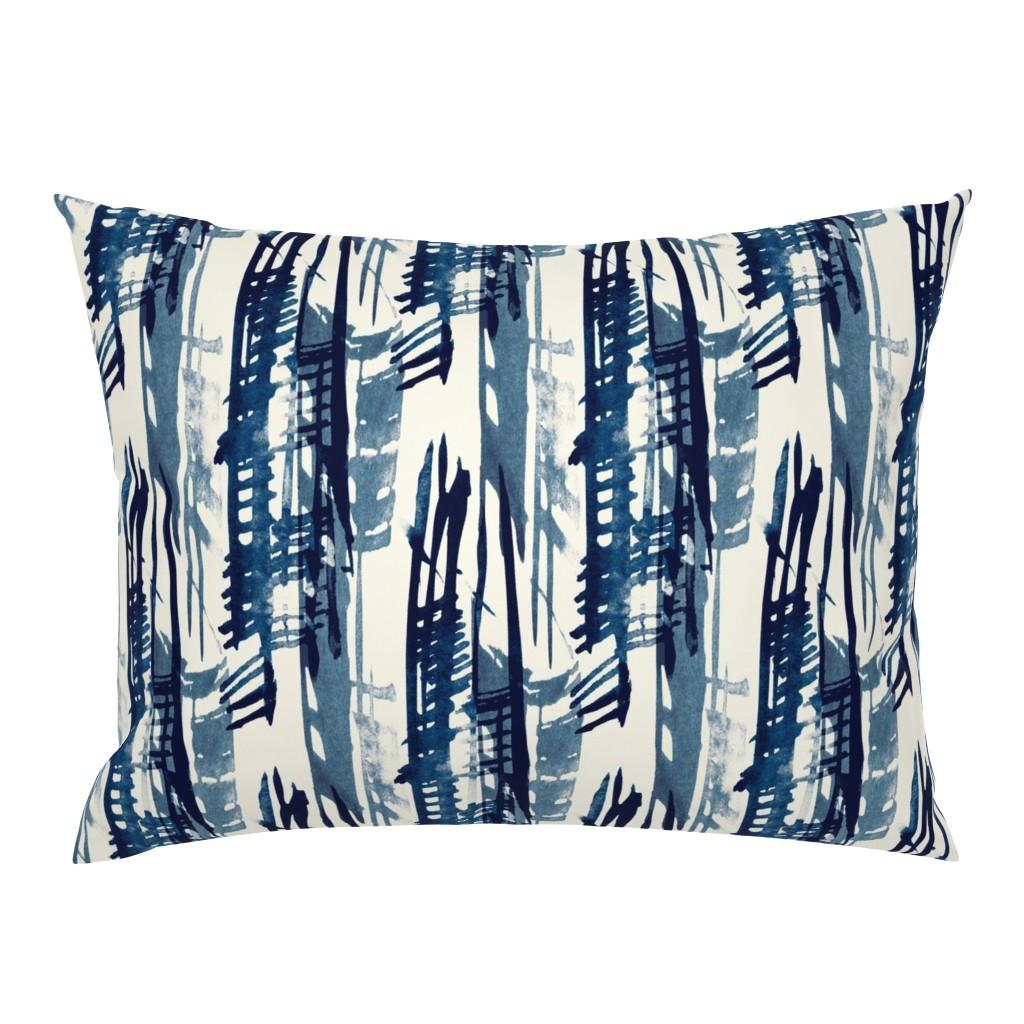 Campine Pillow Sham featuring Indigo Inked by elizabeth_hale_design