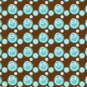 Blue Link Circles on Brown