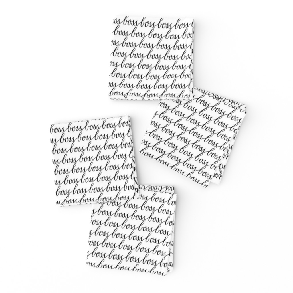 17 01j Boss Black White Words Text On Frizzle By Misschiffdesigns