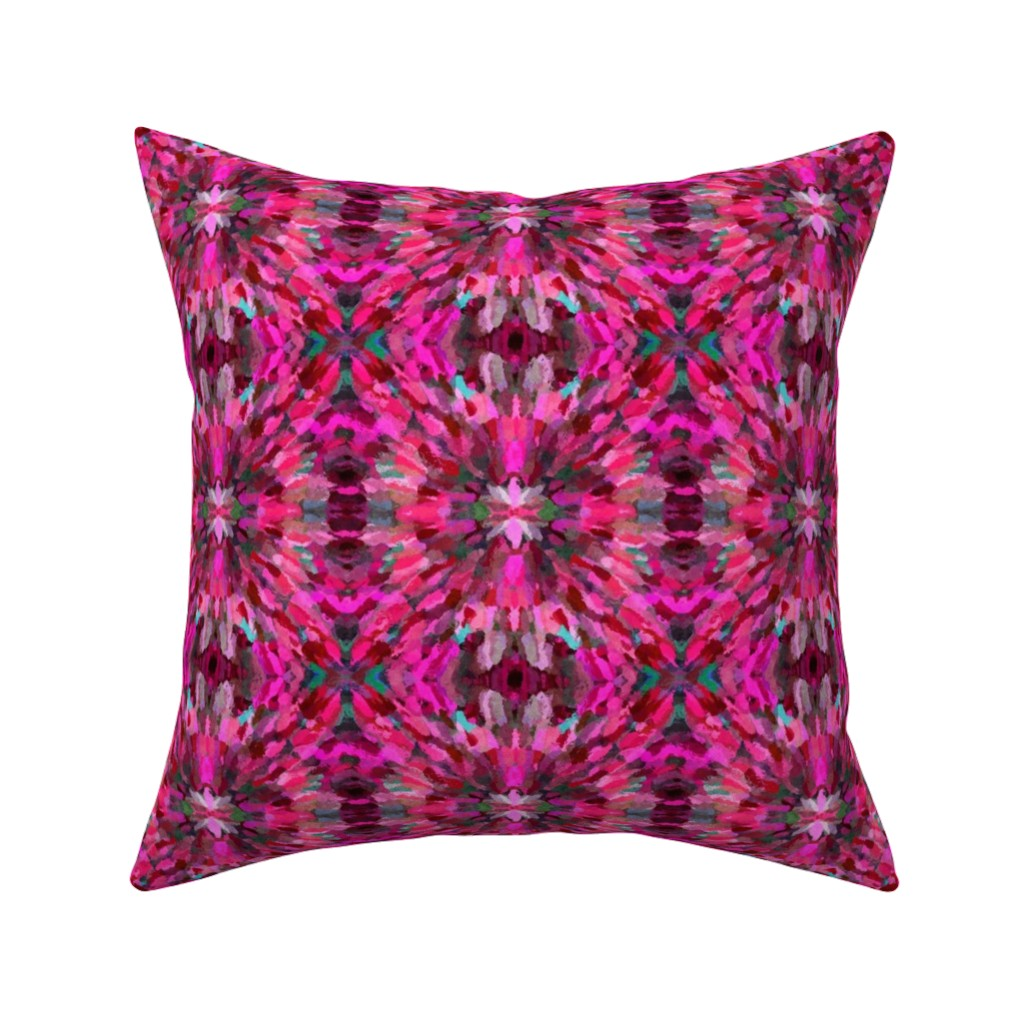 Catalan Throw Pillow featuring Diana Star Paint Strokes, Pink by palifino